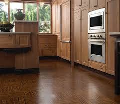 awesome wooden furniture and kitchen flooring options with glass window facing small downlight