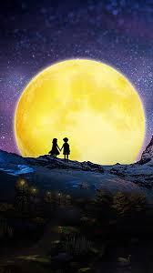 people love beautiful moonlight background moonlight moon love background image