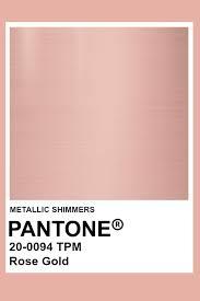 rose gold metallic pantone color