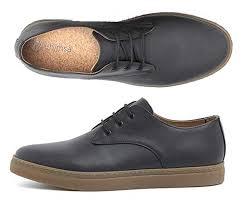 ahimsa sustainable black faux leather sneakers