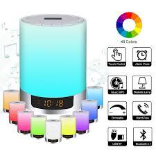 Led Bluetooth Speaker Night Light Speaker Portable Wireless Bluetooth Speaker With Alarm Clock