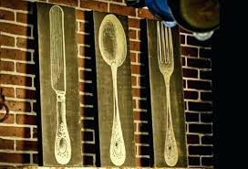 fork spoon wall decor large wood and art wooden knife giant splendid woo