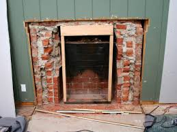 fireplace extraordinary replacing brick fireplace removing steps modern stone bricks fire for box replacement redo