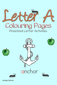 Letter A Coloring Pages Preschool Letter