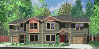 house front drawing elevation view for d 461 duplex house plans shallow lot multi