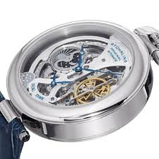 stuhrling original men s 127a 3315c2 emperor s grandeur analog stuhrling original men s 127a 3315c2 emperor s grandeur analog automatic self wind blue leather watch