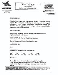 Hardfacing Electrode Comparison Chart Technical Data Sheets Washington Alloy Welding Products