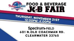 Clearwater Threshers Seating Chart Spectrum Field Food Beverage Job Fair At Clearwater