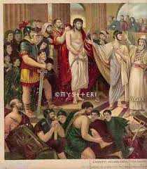 Image result for pictures of barabbas and Jesus