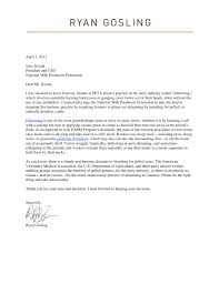 patriotexpressus outstanding ryan gosling fights cow dehorning in dehorning in letter shared by peta the fetching ryangoslingletter divine correction request letter format also offer rejection letter due