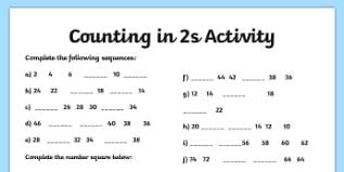 Counting In 2s Worksheets And Games Ks1
