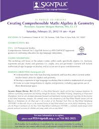Creating Comprehensible Math: Algebra & Geometry