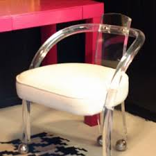bathroomlovely lucite desk chair vintage office clear. Appealing Lucite Desk Chair Combine With Amazing Design Dining Table Set To Inspire Your Home Bathroomlovely Vintage Office Clear