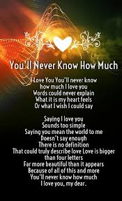 Quotes About How Much I Love You Inspiration How Much I Love You Poems For Him And Her Images Love Quotes