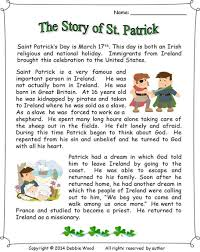 St. Patrick's Day Reading and Activities about the life story of ...
