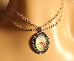 fl vintage style layered chain choker pendant necklace at 1550 azilaa