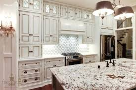 backsplash ideas for white cabinets gray accents and glass pendant lights ideas with white cabinets and dark grey tile flooring decor idea brown brick tile