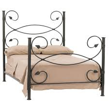 rod iron bed. Interesting Iron Leaf Wrought Iron Bed In A Natural Black Finish To Rod E