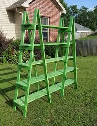 Wooden Ladder Display Stand Ladder Shelf 100 ft Wooden Ladder Craft Fair Display Craft Show 91