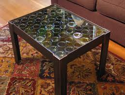 Recycled Wine Bottle Table