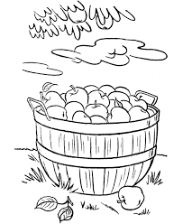 Fall Apple Coloring Pages Color Bros