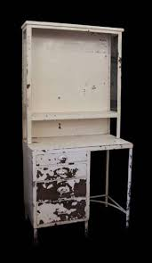vintage medical surgical storage cabinet desk with chippy paint