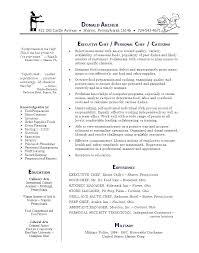Chef Manager Sample Resume Podarki Co