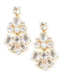 crystal chandelier earrings clear