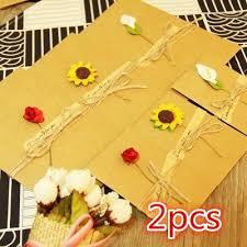 Card Bday Creative Handmade Paper Flower Message Card Diy Retro Kraft Paper Flower Holiday Universal Greeting Card Birthday Bday Card Bday Cards From Hymen
