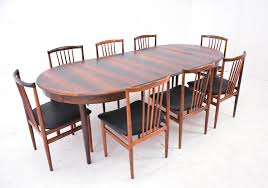 extends to 93½ inch long midcentury modern period danish design dining table in rosewood 1149