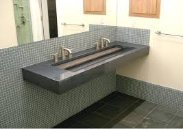 trough bathroom sinks sink with two faucets canada undermount