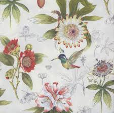 Flower Printed Paper Decoupage Paper Napkins Of Flowers And Hummingbird