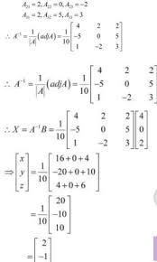 linear equations using matrix method
