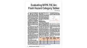 Nfpa 70e Hazard Risk Category Level Chart Evaluating Nfpa 70e Arc Flash Hazard Category Tables