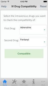 Iv Drug Compatibility Chart 2014 Iv Drug Compatibility Mobile App