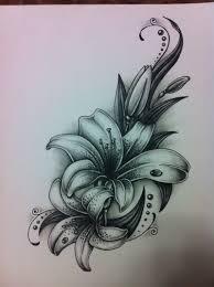 картинки по запросу лилия татуировка эскиз Tatoo лилии тату