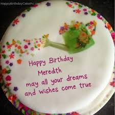 ❤️ Wish Birthday Cake For Meredith