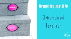 Organize my Life Kleiderschrank home tour | Ordnung und Aufräumen ...