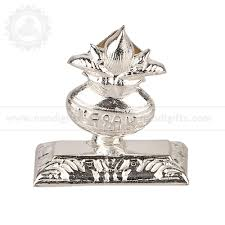 silver plated kalash agarbathi stand