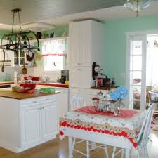 image vintage kitchen craft ideas. Great White Themes Vintage Kitchen With Cabinets Set Also Breakfast Table Image Craft Ideas R