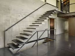Floating Steel Tread Stairs, Seattle