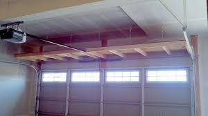 custom diy overhead folding storage shelving units for garage with small spaces ideas