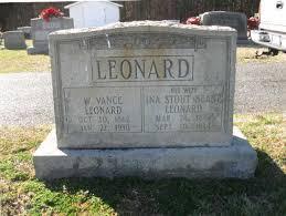 William Vance Leonard 1862-1930 – Martha's Family Connections
