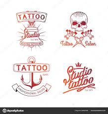 тату студия логотип красочные логотипы для тату салон шаблонов