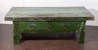 wabi sabi green coffee table at stdibs