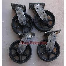 industrial furniture wheels. 6\u2033 Cast Iron Caster Wheels | Vintage Industrial Furniture D