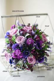 A Hand-Tied Vintage Bridal Bouquet Recipe in Spring Purples