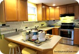 Diy Tile Kitchen Backsplash Diy Faux Tile Backsplash Stephanie Marchetti Sandpaper Glue