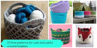Free Crochet Basket Patterns Amazing 48 Free Easy Crochet Baskets Patterns