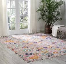 nourison psn01 passion colorful bohemian silver grey area rug 8 x 10